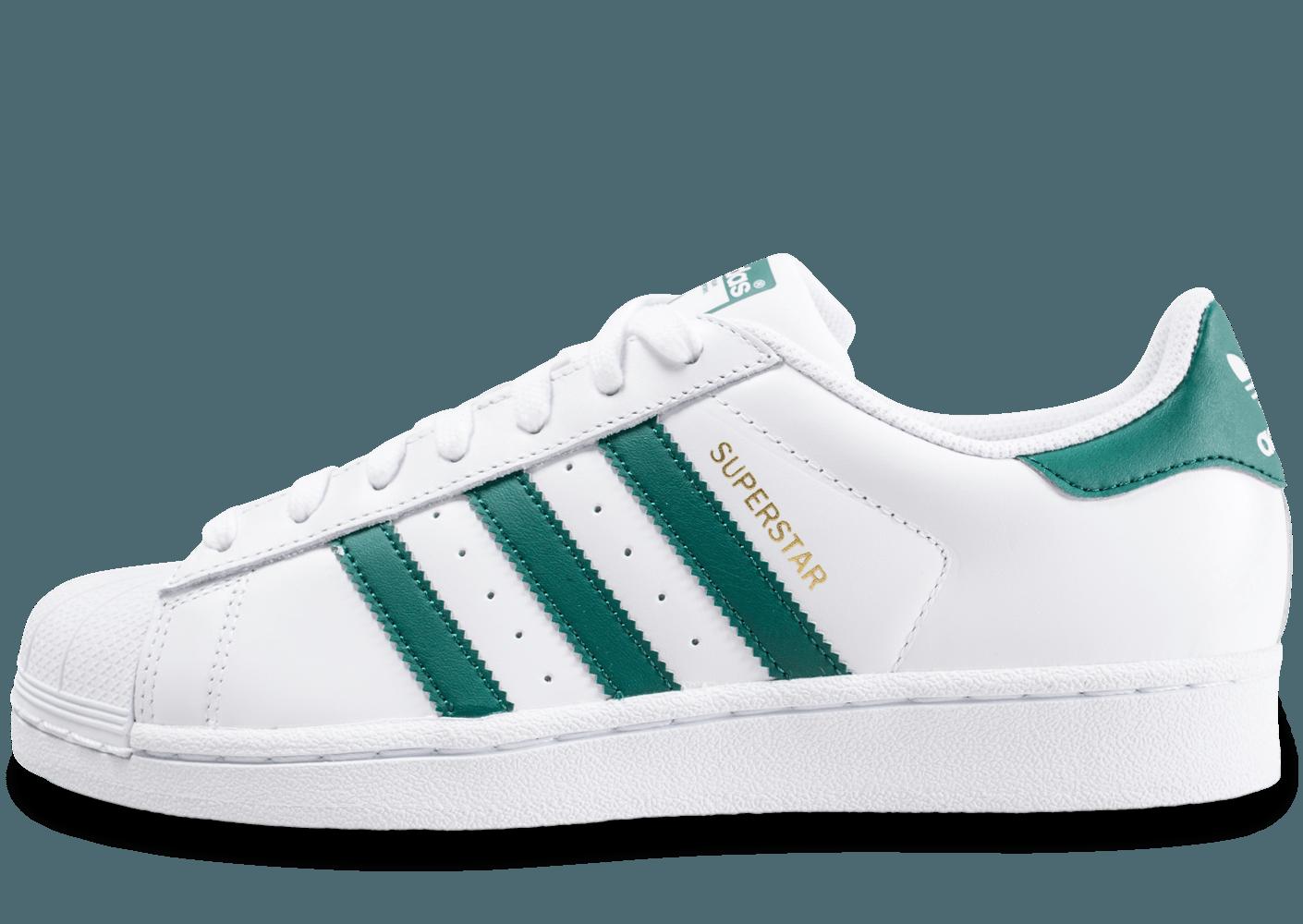 adidas superstar blanc et verte Outlet Vente Authentique