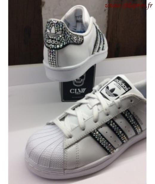 adidas superstar femme argent et blanc