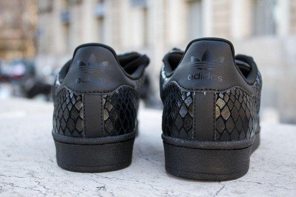 adidas superstar femme noir serpent