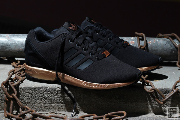 adidas zx flux noir copper rose or
