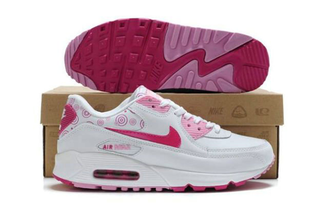 nike air max femme blanche et rose