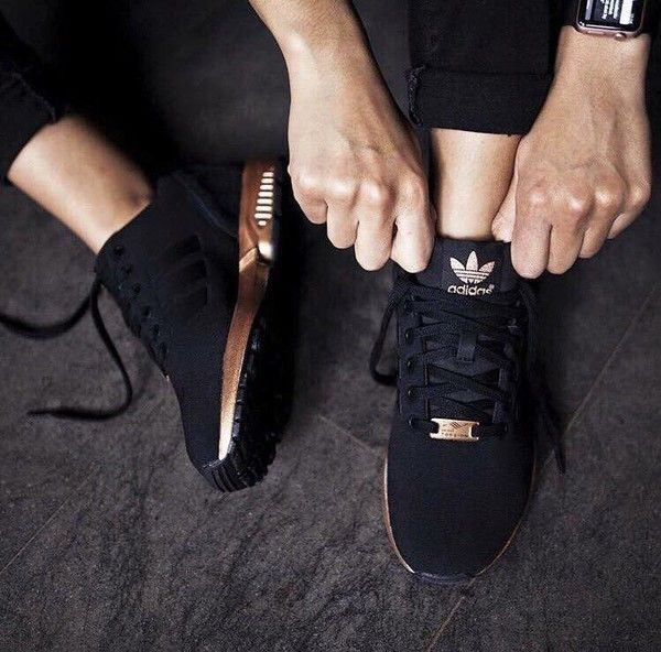 basket adidas noir et or rose Outlet Vente Authentique