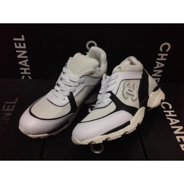 336148d70d26 La mode basket femme chanel blanche vous offre un confort incroyable quand  vous faites des exercices, vous serez obsédés par cette chaussure unique!